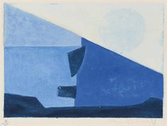 Serge Poliakoff - Composition in Blue, 1958,...