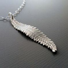 Fern Frond Necklace by Lisa Hopkins Design