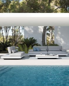 garden collection by MANUTTI, design Gerd Couckhuyt. Outdoor Rooms, Indoor Outdoor, Outdoor Living, Outdoor Decor, Outdoor Lounge, Outdoor Seating, Gazebos, Dream Pools, Garden Pool