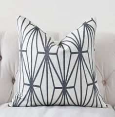 Kelly Wearstler Katana Pillow Cover - Ivory Ebony - Black and Ivory Pillow - Designer Geometric Pillow Cover by MotifPillows on Etsy https://www.etsy.com/listing/209494788/kelly-wearstler-katana-pillow-cover