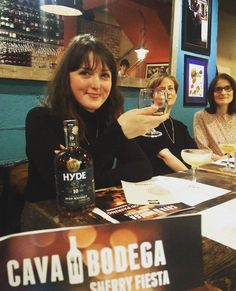 GALWAY: Thanks James & Justin @Yesbeverages_Co HYDE tasting at the Bodega, Middle St, GALWAY! cavarestaurant.ie #sherryfiesta @cavagalway