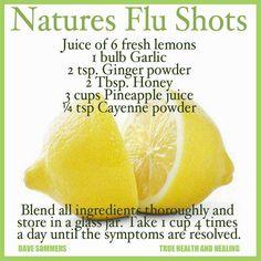 Natural Cures Not Medicine: Natural Flu Shots