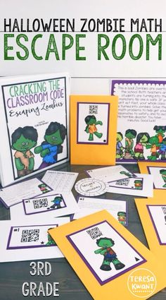 This fun Halloween escape room is perfect for your third grade classroom. Students in 3rd grade will practice rounding, addition, and subtraction skills while trying to escape a mob of zombies that have overtaken the school. This fun math game is a great activity for the October and Halloween season. Students will be working together. As they try and breakout of the school overrun with zombies, you can watch their rounding, addition, and subtraction skills soar!