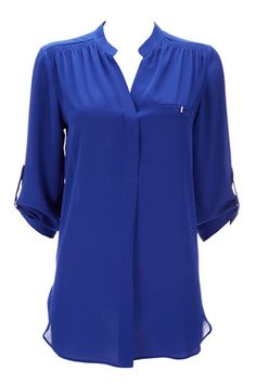 Perfect #cobalt #blue blouse for now into the #fall season