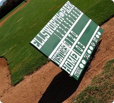 DIY canvas scoreboard