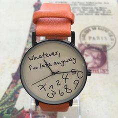 Popular Letter Leather Wristwatch – uShopnow store