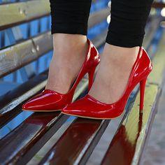 Kırmızı Stiletto - Ayakkabı Çanta Dükkanı Stiletto Heels, Shoes, Fashion, Moda, Zapatos, Shoes Outlet, Fashion Styles, Shoe, Footwear