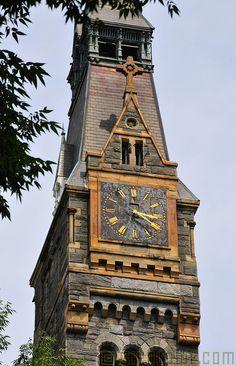 Clock Tower, Georgetown University, Washington DC - by Glyn Lowe Sistema Solar, Old Clocks, Vintage Clocks, Georgetown University, Unique Clocks, Time Stood Still, As Time Goes By, Time Clock, Clock Decor