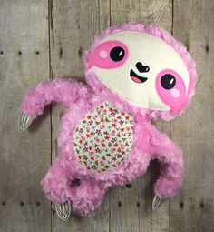 Three Toed Sloth Plush  Stuffed Sloth  Sloth by LittleLucasDesigns