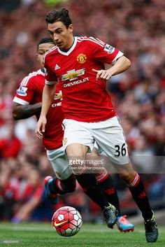 Matteo Darmian of Manchester United in action during the Barclays Premier League match between Manchester United and Sunderland at Old Trafford on September 26, 2015 in Manchester, United Kingdom.