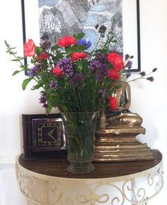 September posie: Mint, Verbena, Lavender, cornflowers and Knap weed