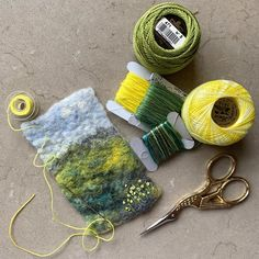 WIP - A mini version of my Buttercup Fields picture I showed you last week, still more to do. Happy that the large Buttercup Fields picture… My Roots, Mixed Media Artists, Textile Artists, Buttercup, Felting, Fields, Crochet Earrings, Textiles, Personalized Items