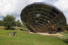 This solar home, built in the Alsacian countryside near Strasbourg, France, was designed as a giant 3D sundial, sitting at an ideal angle in relation to the sun.
