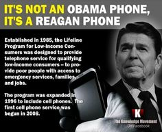 Try to remember this RWNJs. Your hero Reagan started this program, NOT President Obama! Dumb fucks! 12/8