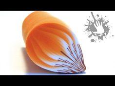 BEAAUTY DESIGN TECHNIQUE. Polymer clay tutorial murrina petalo Arancio / millefiori cane Arancio - YouTube