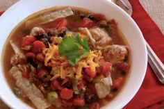 Slow Cooker – Chicken Tortilla Soup