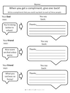 Worksheets Social Skills Worksheets For Children social skills worksheets and homework on pinterest helping kids with aspergers to give compliments for social