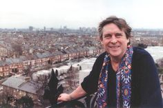 A magnificent photograph of Jeremy on his roof garden at Clapham Common. (Falk archive)