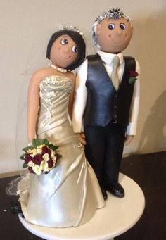 Custom made wedding cake topper from New Zealand