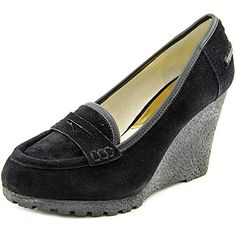 Michael Kors Women Rory Loafer Wedge Black Shoes * Click on the image for additional details.
