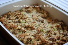 Old Fashioned From Scratch Stuffing