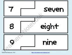Self Correcting Puzzle - Number Words from Rakis Rad Resources on TeachersNotebook.com (4 pages)