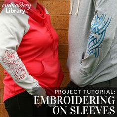 Embroidering on Sleeves