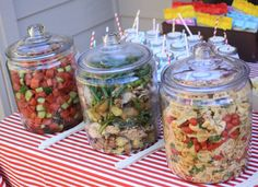 15 easy outdoor party food ideas for a crowd backyard parties, backyard bbq party menu ideas … smoking bbq party ideas! bbq p…, easy backyard party menus food network magazine : recipes and, backyard party menu ideas and to spark up your summer Party Hacks, Party Ideas, Bbq Ideas, Nice Ideas, Soirée Bbq, Fingers Food, Glass Jars With Lids, Glass Containers, Outdoor Parties