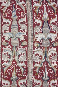 Germany    Square, 15th century    Wool, twill weave; embroidered with silk  45.8 x 57.2 cm (18 x 22 1/2 in.)