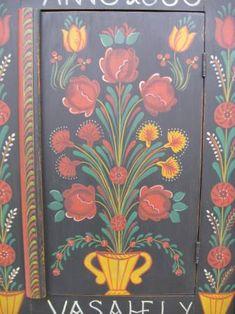 Image detail for -Hungarian painted carved wall cupboard farm peasant folk art furniture Farmer Painting, Tole Painting, Hand Painted Furniture, Art Furniture, Painted Pianos, Shabby Chic, Scandinavian Folk Art, Inca, Arte Popular