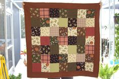 The baby grandsons snuggle quilts were flannel front and back, made two of these for Christmas! Sewn by Donna Adams Conklin
