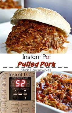This Instant Pot Pulled Pork is PERFECT for parties, easy dinners, or just becau. CLICK Image for full details This Instant Pot Pulled Pork is PERFECT for parties, easy dinners, or just because you are wanting some Pull. Crock Pot Recipes, Cooking Recipes, Healthy Recipes, Cooking Tips, Cooking Classes, Cooking Pork, Dishes Recipes, Cooking Salmon, Cooking Games