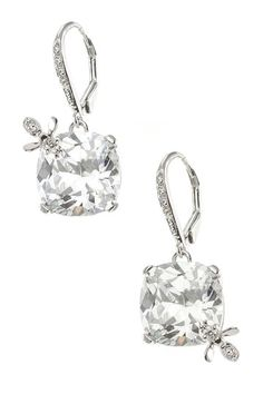 CZ Cushion & Bee Accent Earrings by Kenneth Jay Lane on @HauteLook $49, down from $165. js