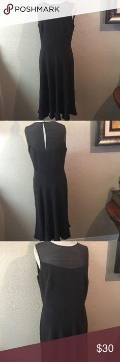 50% off bundles Donna Morgan• Sz 12• Gorgeous black dress• semi sheer top• fully lined• Sooo pretty! In perfect condition Donna Morgan Dresses