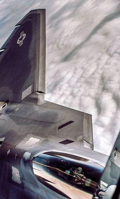 Lockheed Martin F-22 Raptor. (via 测试) More Airplanes here.