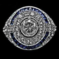 Blue Eyes Art Ring