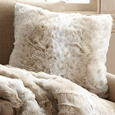 Currently have a slight obsession with throw pillows, especially faux fur ones - featured by Arhaus.