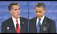 """""""Obama-Romney, il primo faccia a faccia va al repubblicano"""" - Si è concluso da poco il primo faccia a faccia tra Mitt Romney e Barack Obama e la vittoria ai punti va sicuramente al candidato repubblicano. Non è stato un dibattito decisivo ai fini delle elezioni ma avrà certamente l'effetto di riavvicinare i due nei sondaggi. Tu che ne pensi? Dillo sul blog!"""