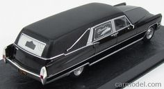 EDICOLA BONDCOL088 Skala: 1/43  CADILLAC HEARSE FUNERAL CAR CARRO FUNEBRE 1959 - 007 JAMES BOND - DIAMONDS ARE FOREVER - UNA CASCATA DI DIAMANTI BLACK