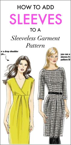 Adding sleeves to a sleeveless garment pattern is easier than you think. Step-by-step directions in this free PDF tutorial by Vogue Patterns Magazine.