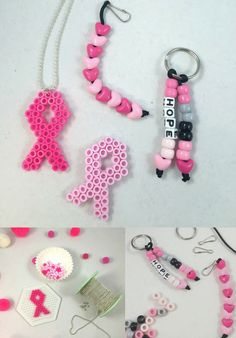 Cancer keychain breast