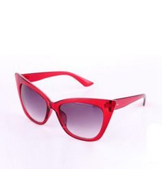 """Sexy """"Cat Eye"""" Sunglasses in Maroon color!"""