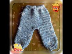 Штанишки для новорожденных крючком.children pants crochet tutorial - YouTube
