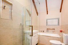 Handyman reader James Illes transformed his dated bathroom into a modern sanctuary. Handyman Magazine, Home Repair, Corner Bathtub, Bathroom, Tips, Modern, Projects, House, Washroom