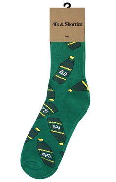 40s (Green) socks by 40s & Shorties