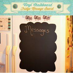 Chalkboard Vinyl Fridge Message Board