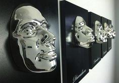 Kim Omolade, Diovadiova Chrome, Mixed-media on five panels,12 x 16 in (ognuno).