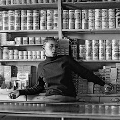 David Goldblatt - photographer of apartheid ------ Shop assistant, Orlando West, Soweto, Johannesburg in
