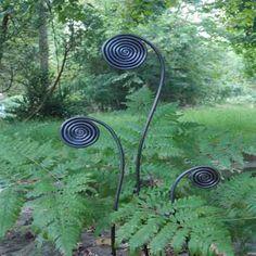 Pot Size Fiddlehead Fern Garden Stakes-Set/6