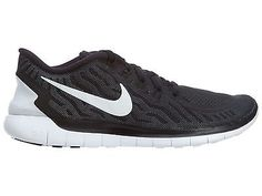 Nike Free 5.0 Womens 724383-002 Black Grey Running Training Shoes Wmns Size 6